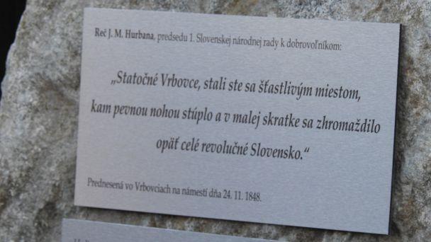 Slávnostné odhalenie pamätníka rokov 1848 / 1849